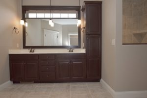master bathroom of Glendale model