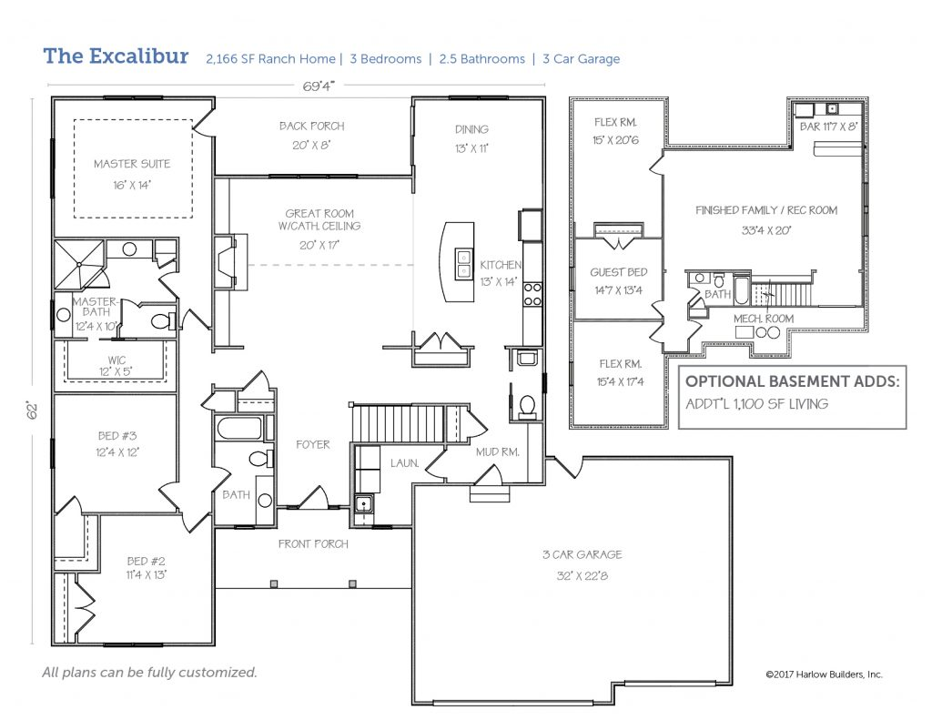 Excalibur floorplan