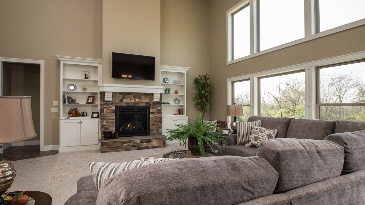 Great rooms harlow builders inc for Great room fireplace