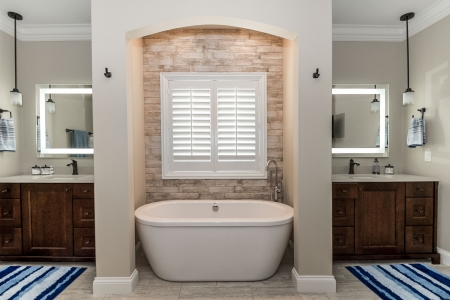 Various bathrooms finished in Harlow Homes