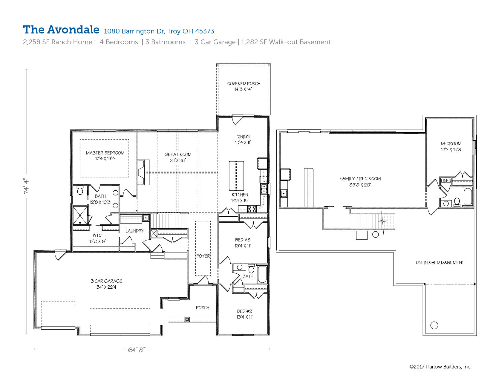 The avondale 1080 barrington dr troy harlow builders inc Avondale house plan