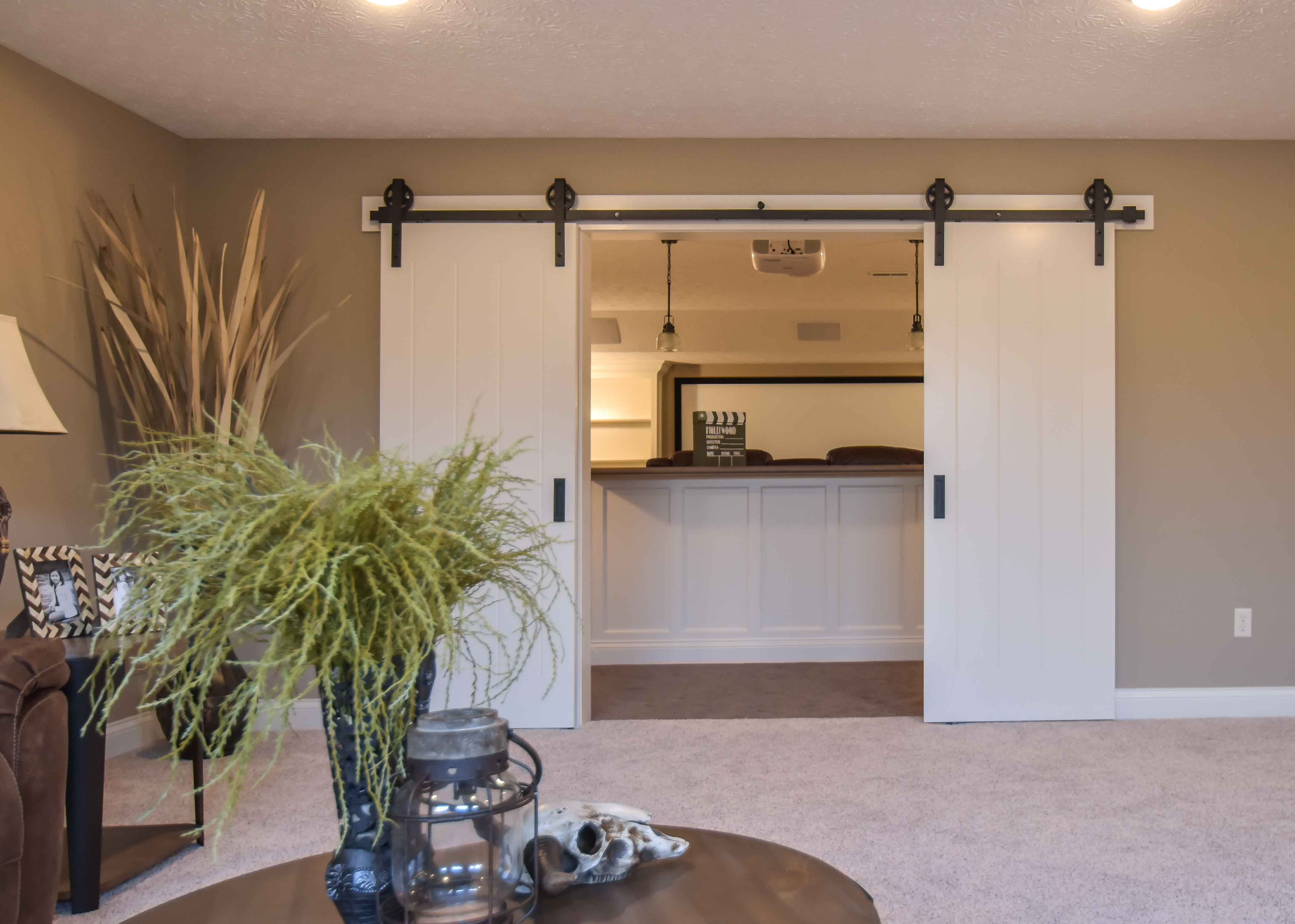 Barn doors to media room
