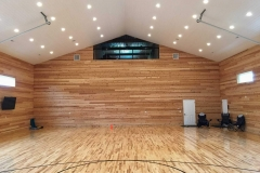 Custom built basketball court complete with spectator watching in the loft!