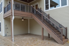 Composite material used on exterior stairs