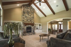 Great room of Barrington model