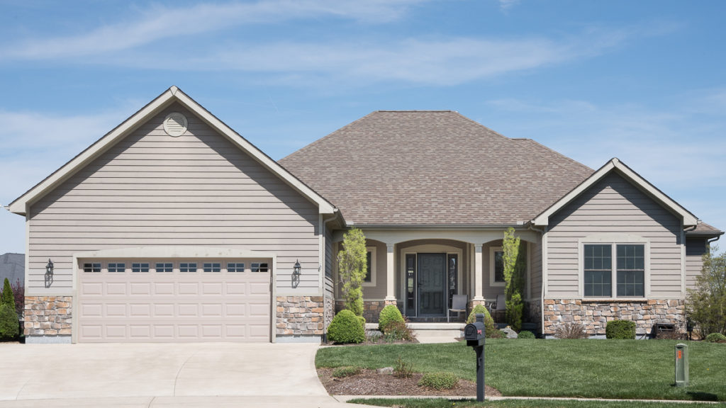 Excalibur model with painted siding and stone built in Stonebridge (Troy)