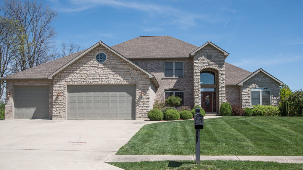 Modified Belmont 2-story with brick and stone built in Stonebridge (Troy)