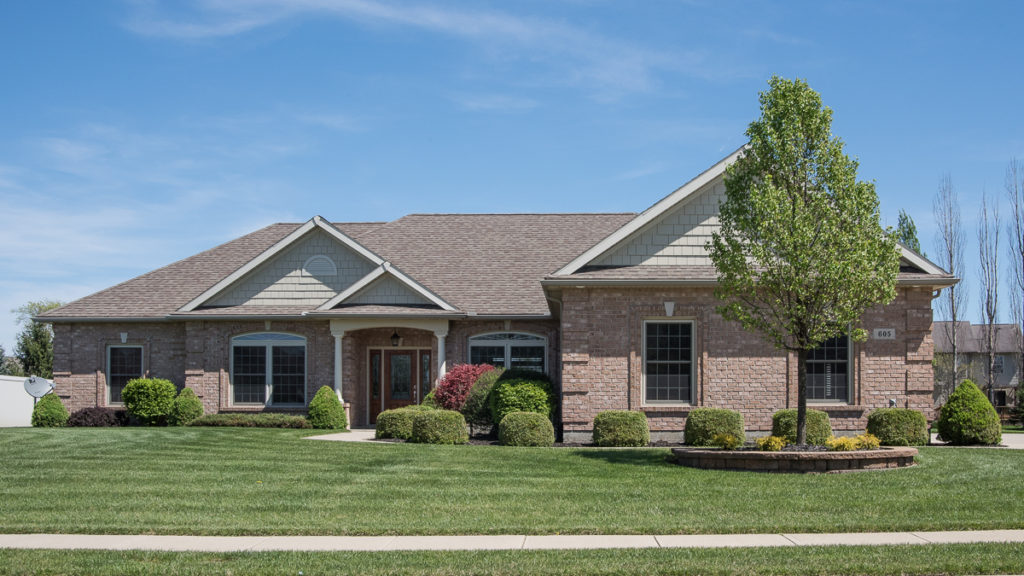 Glendale model all brick with shake accents built in Stonebridge (Troy)