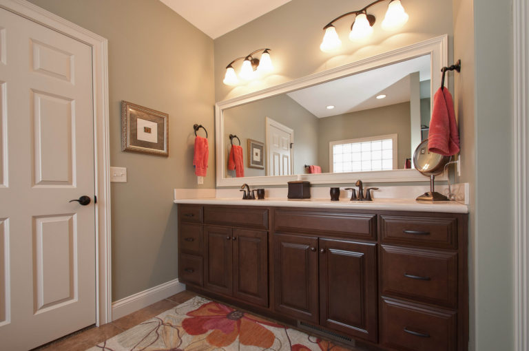 Allison model master bathroom with dual sinks