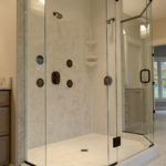 Shower includes three fixtures
