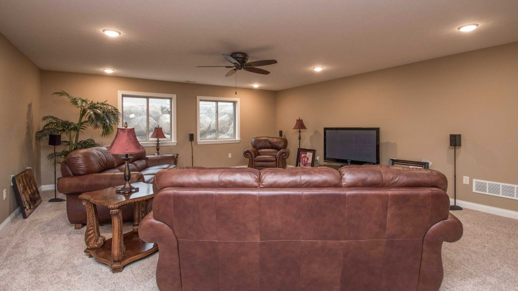 Large family area in the lower level of this Allison model