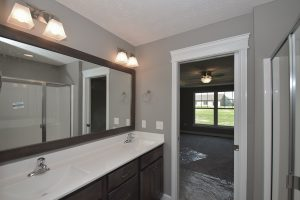 Master bath of Fenway model