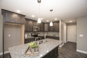Granite countertops, Full overlay cabinets with soft close doors and drawers